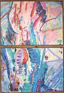 Expectation (2008), acrylic on paper, 2x(0,96x0,67), sold